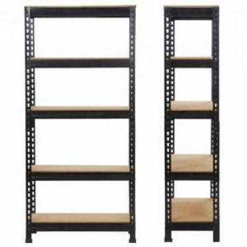 Garage shelving 5 tier boltless storage metal shelving unit for heavy duty pallet rack