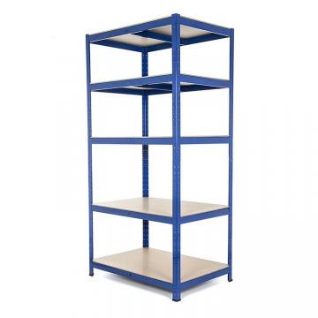 4 layer blue light butterfly hole boltless storage rack shelf Adjustable Light Duty Book Steel Shelf for Library