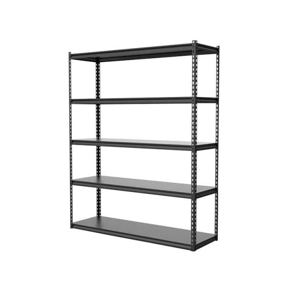 Adjustable 6-tier steel shelves angle style
